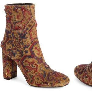 YSL SAINT LAURENT Lou Lou Heeled Booties Boots